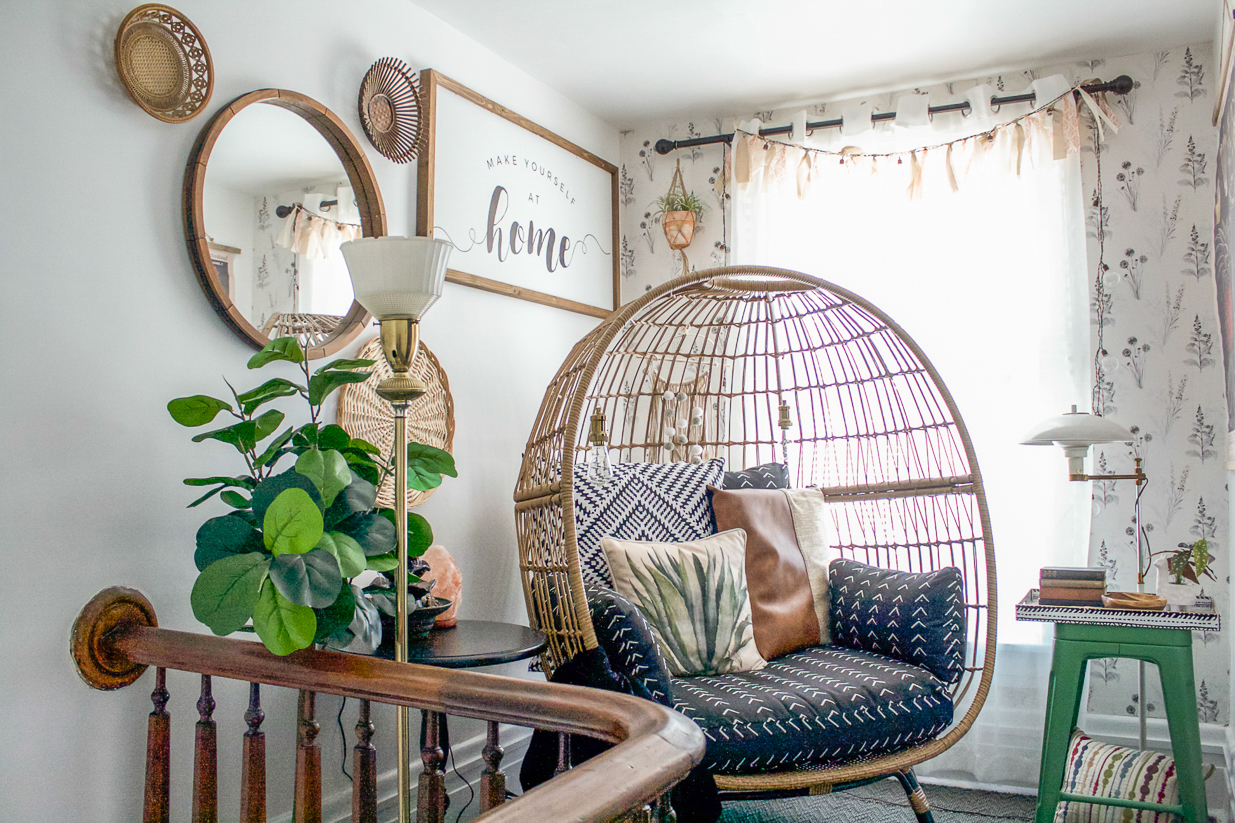 escalier d'atterrissage airbnb maître d'hôtel pa suite thym diyshowoff