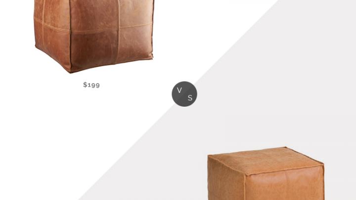 Recherche quotidienne | Pouf CB2 en cuir marron