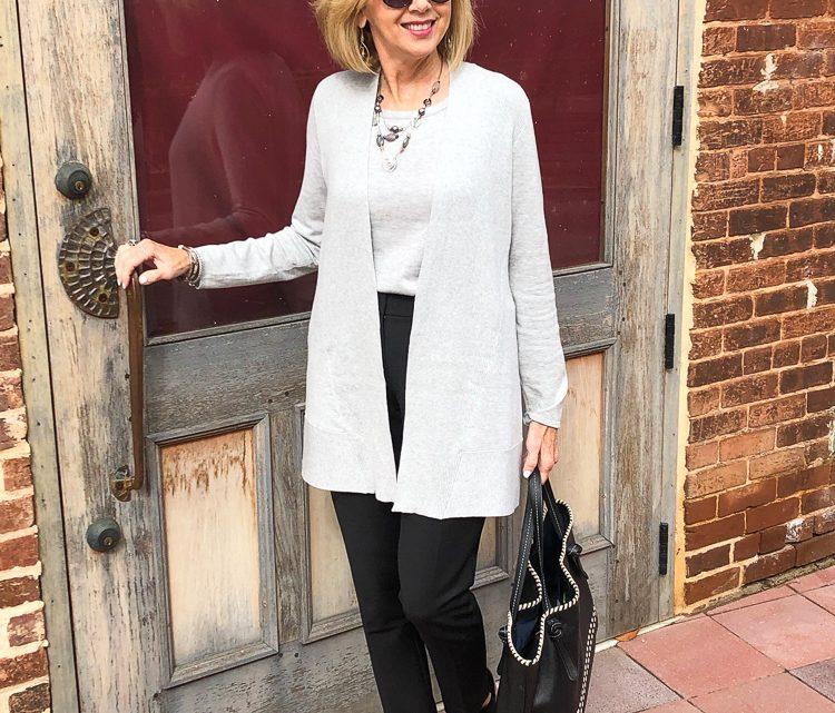 Fashion over 50: Cardigan Sweater Set