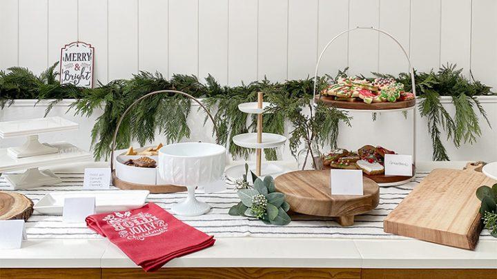 Fête d'échange de biscuits des fêtes avec le marché mondial