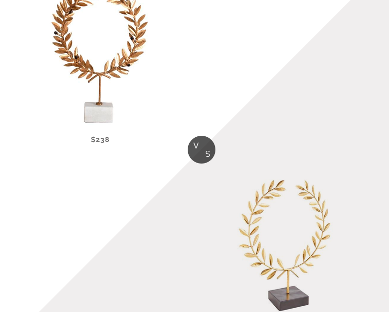 Recherche quotidienne | Porte-couronne en marbre blanc feuille d'or Kathy Kuo Aesop