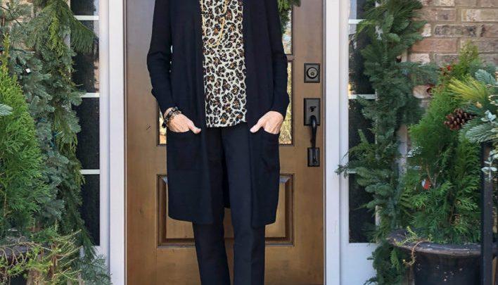 Mode plus de 50 ans: noir et léopard