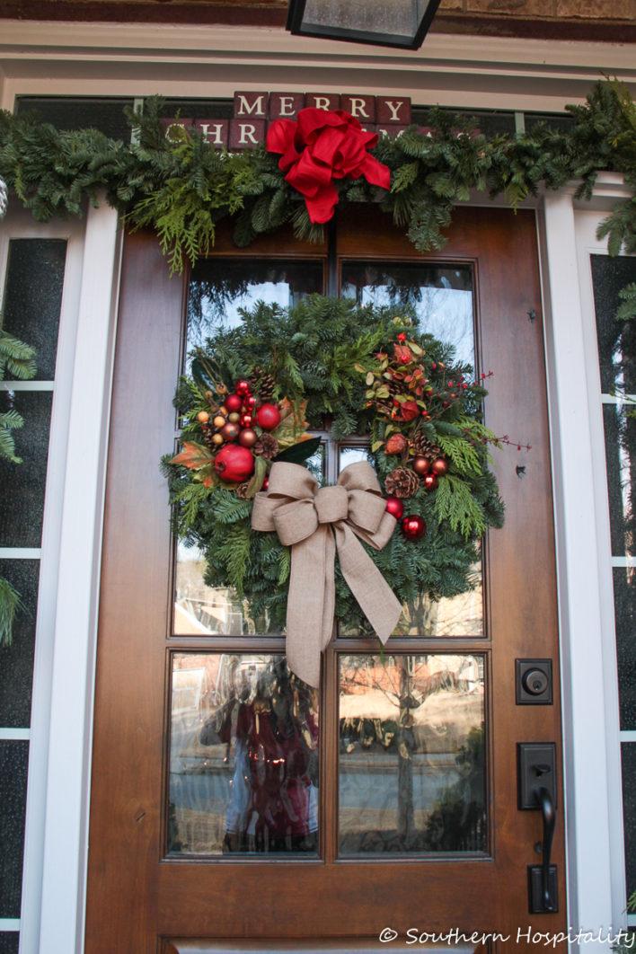Porche décor traditionnel de Noël