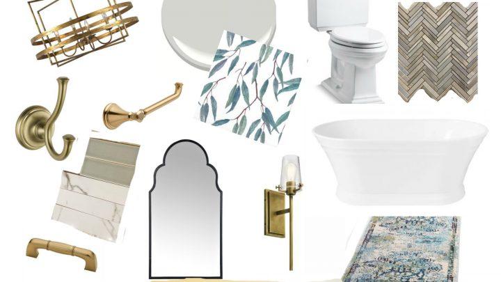 Nouveau tableau d'humeur de salle de bain principale traditionnelle