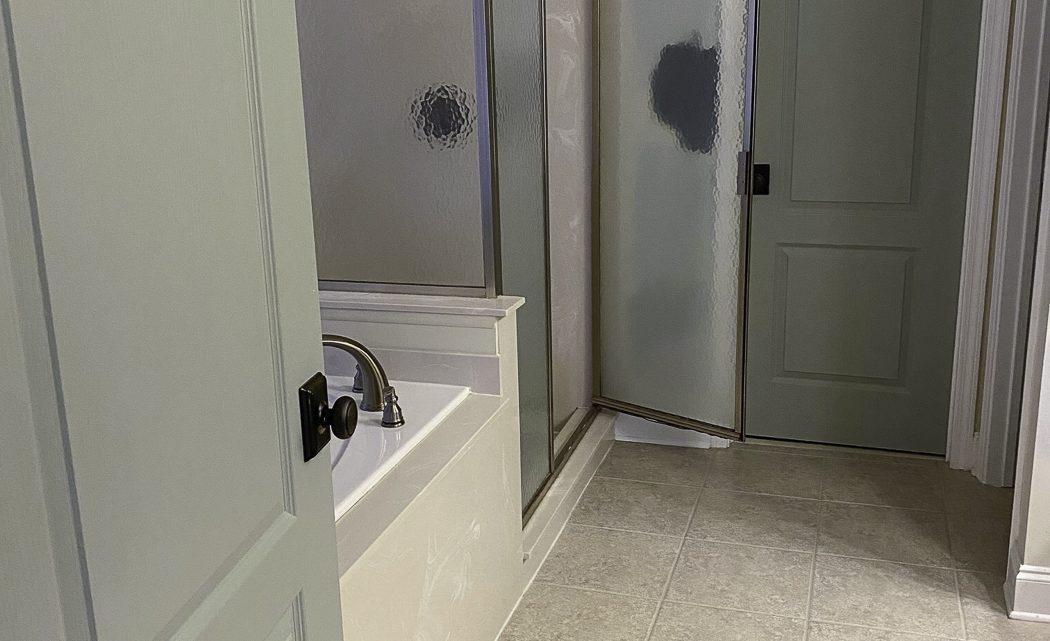 La nouvelle salle de bain principale traditionnelle révèle