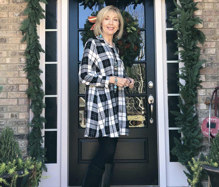 Fashion over 50: Jeggings décontractés avec noir et blanc