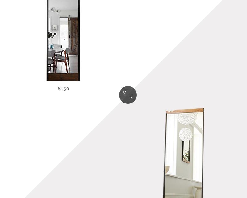 Recherche quotidienne | Miroir de plancher en métal et bois industriel West Elm