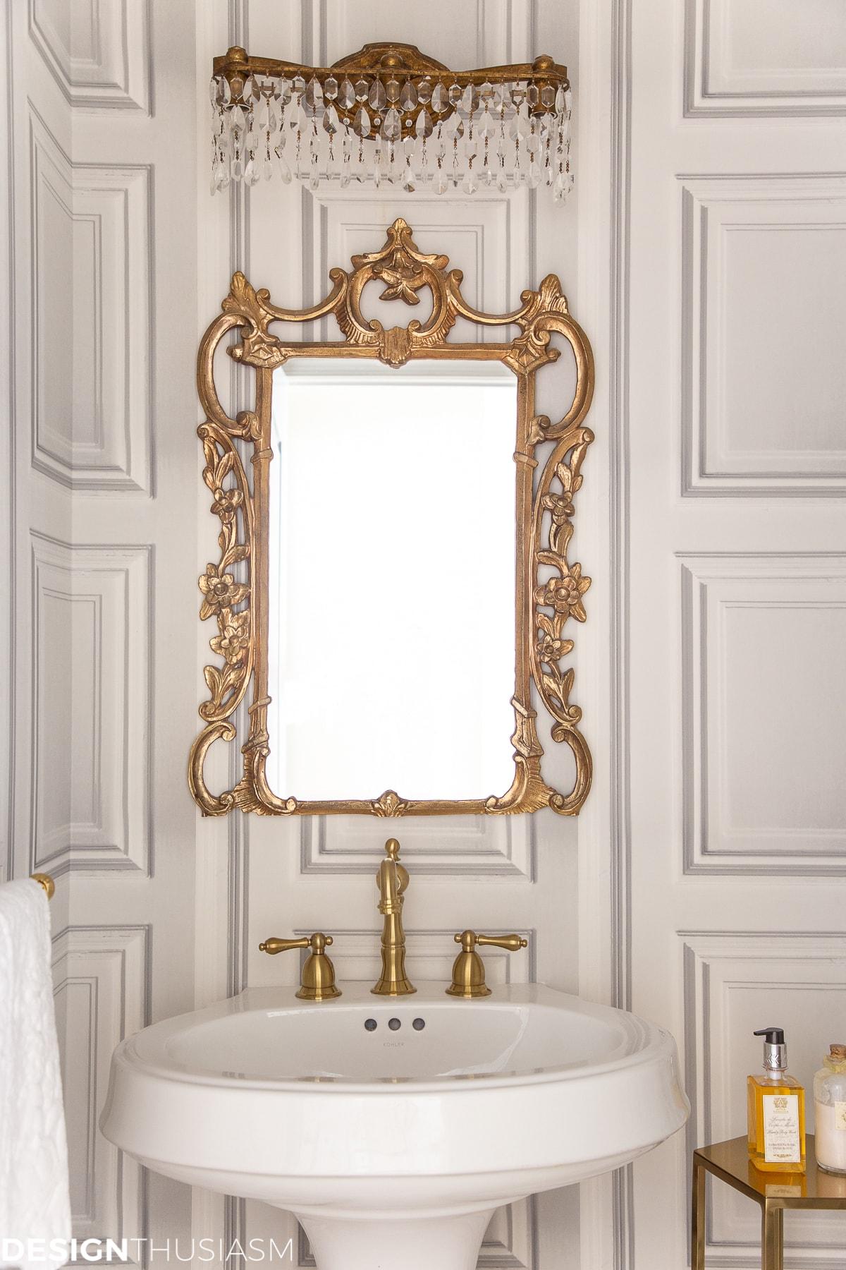 idées de salle d'eau pour lavabo et miroir