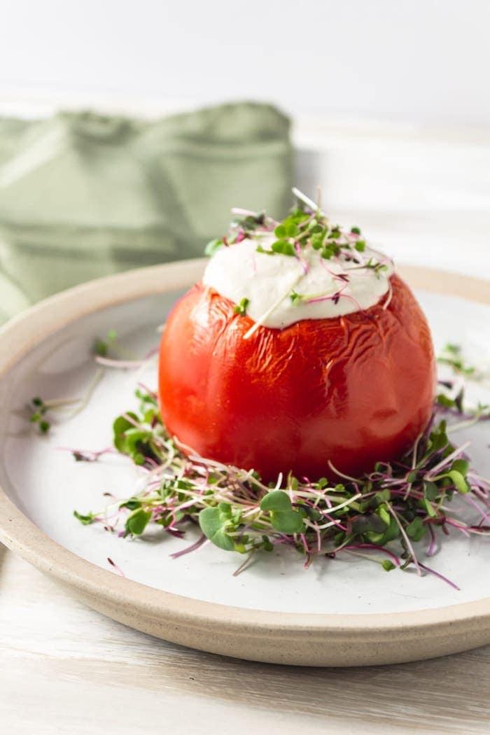 sauce crémeuse aux tomates farcies vegan