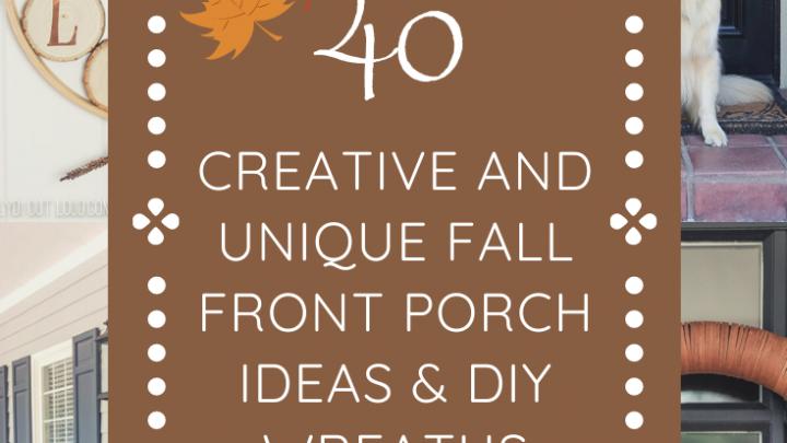 40 idées de décoration d'automne pour porche et guirlande