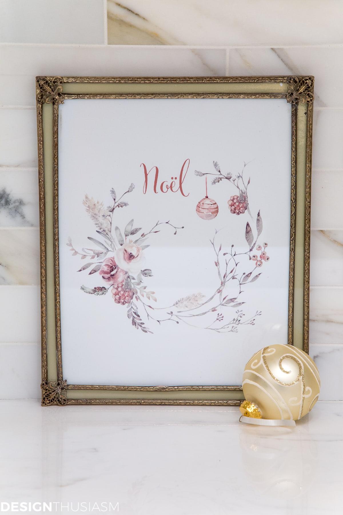 Imprimables de guirlande de Noël de pays français