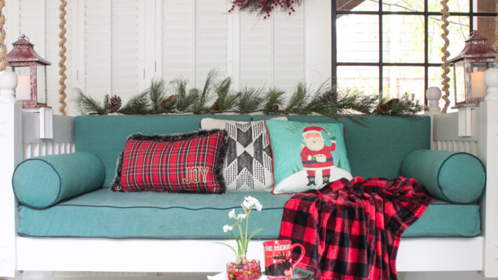 Noël sur le porche de l'écran