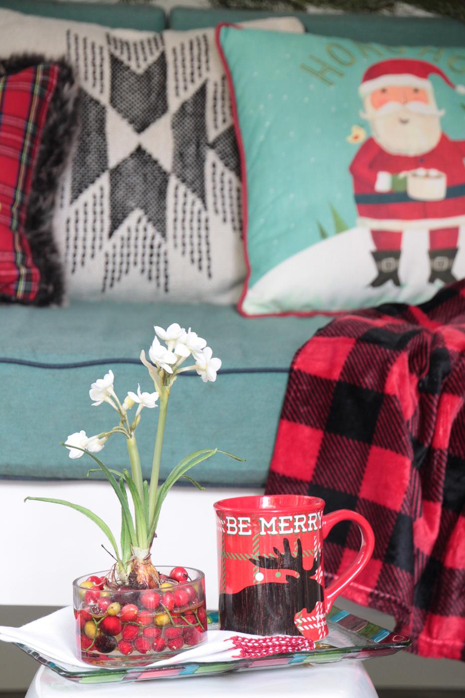 Porche d'écran de décoration de Noël