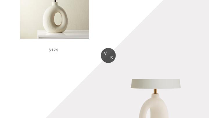 Recherche quotidienne |  Lampe de table en céramique CB2 Algarve